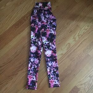 Mossimo Extra Small Floral Full-Length Leggings